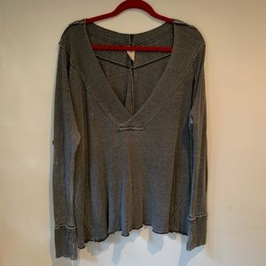 Free People comfy oversized long sleeve top